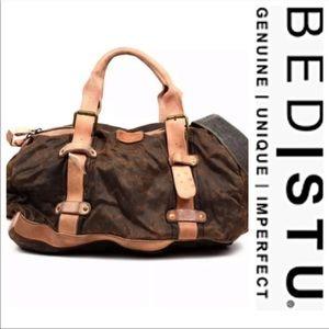 NWT BED STU Howard Canvas/Leather Duffle Bag